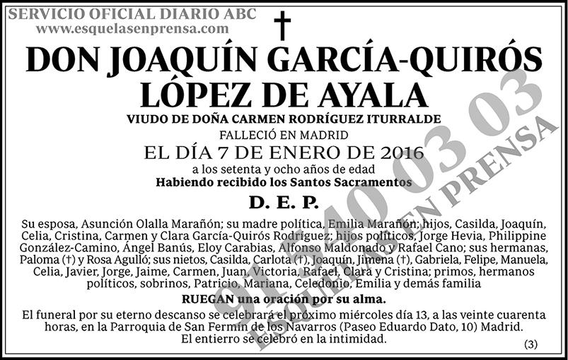 Joaquín García-Quirós López de Ayala
